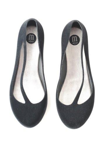 New: Melissa Shoes FLocked Flat